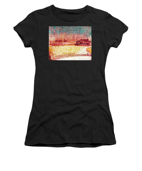 Mixville Road Women's T-Shirt (Athletic Fit)