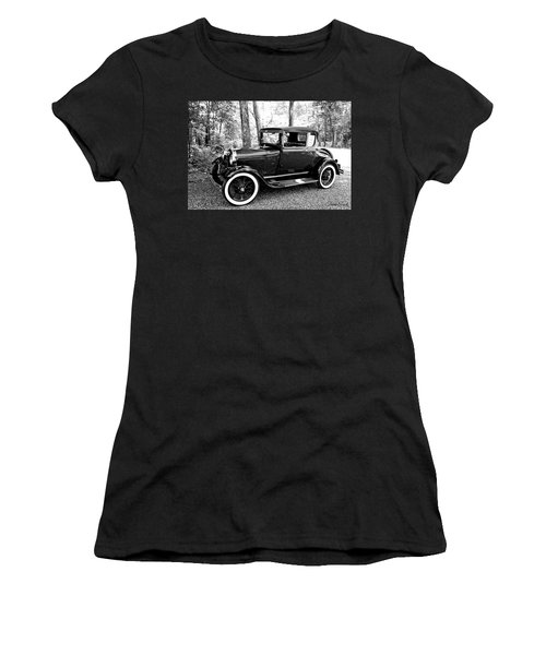 Model A In Black And White Women's T-Shirt
