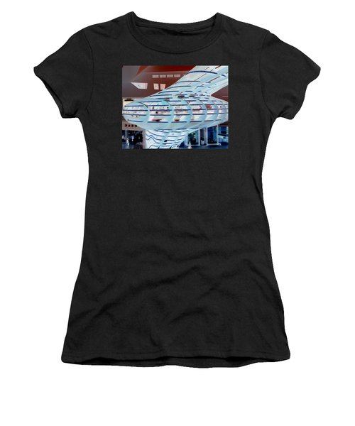 Ghostly Shopping Mall Women's T-Shirt (Athletic Fit)