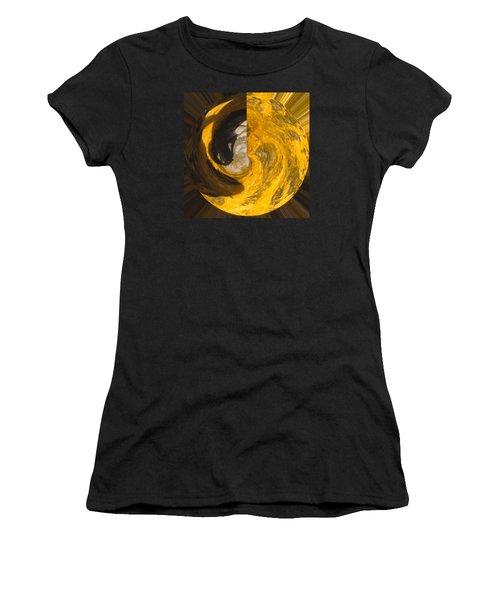 Molten Gold Planet Women's T-Shirt (Athletic Fit)