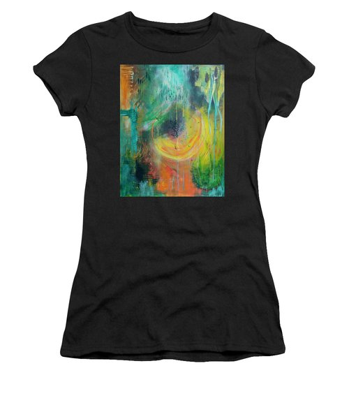 Women's T-Shirt featuring the painting Moment In Time by Jocelyn Friis