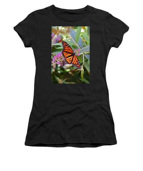 Monarch Butterfly 2 Women's T-Shirt (Junior Cut) by Allen Beatty