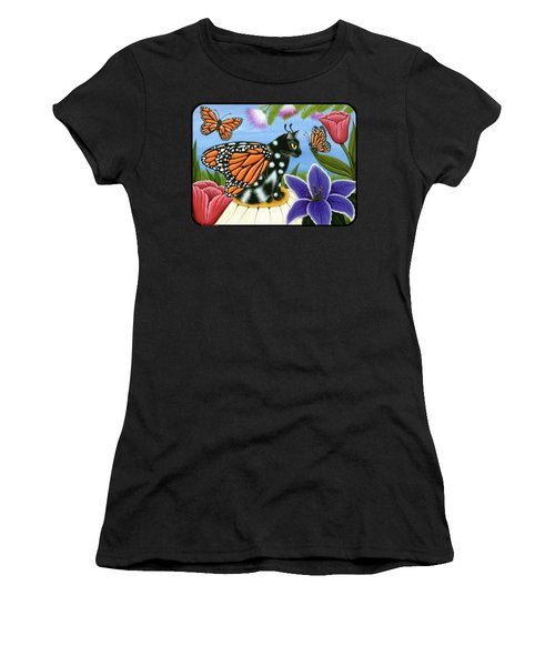 Monarch Butterfly Fairy Cat Women's T-Shirt