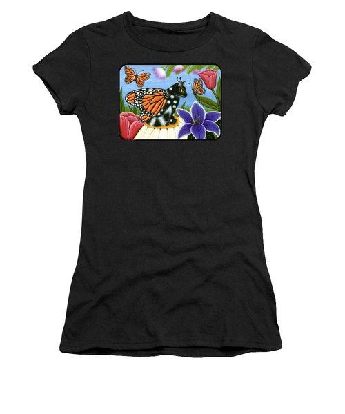 Monarch Butterfly Fairy Cat Women's T-Shirt