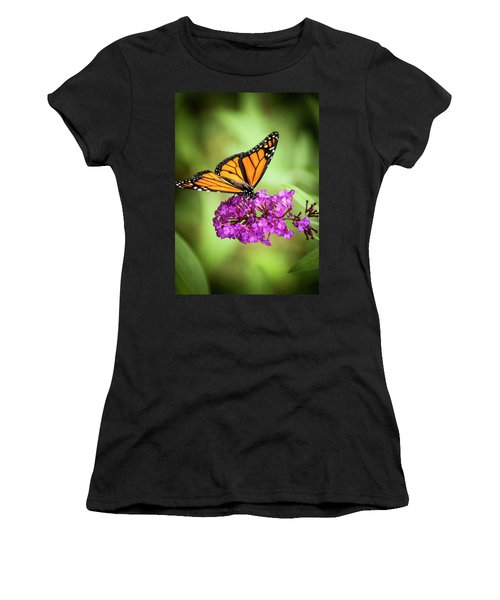 Monarch Moth On Buddleias Women's T-Shirt