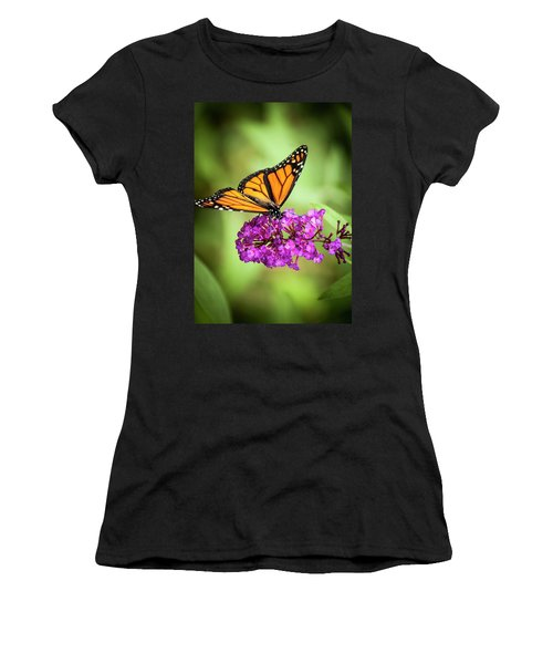 Monarch Moth On Buddleias Women's T-Shirt