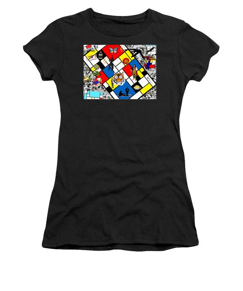 Mondrian Nightmare Women's T-Shirt (Athletic Fit)
