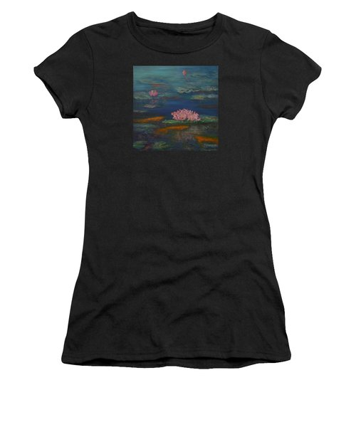Monet Inspired Water Lilies With Gold Fish In A Pond Women's T-Shirt