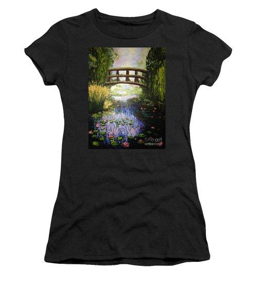 Monet's Bridge Women's T-Shirt (Athletic Fit)