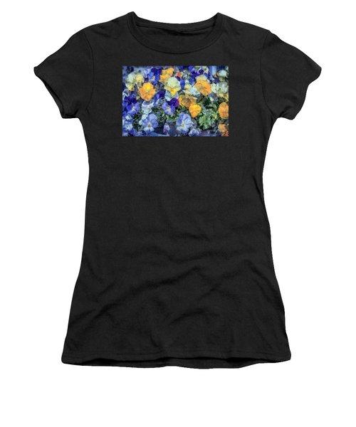 Monet's Pansies Women's T-Shirt (Athletic Fit)