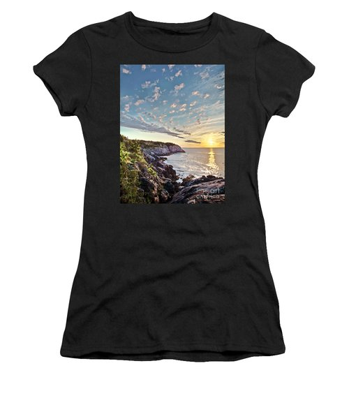 Monhegan East Shore Women's T-Shirt (Athletic Fit)