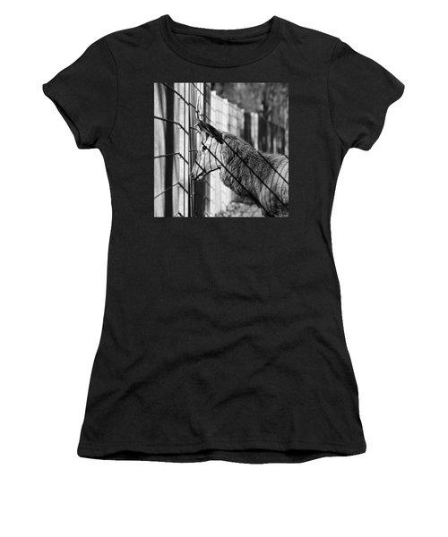 #monochrome #canon #cage #blackandwhite Women's T-Shirt (Athletic Fit)