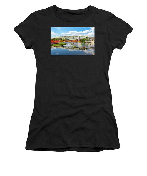 Monorail Cruise Over The Flower Garden. Women's T-Shirt (Athletic Fit)