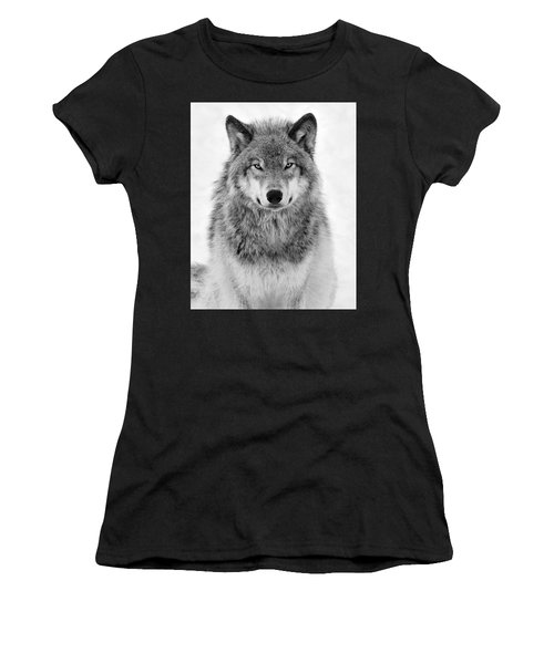 Monotone Timber Wolf  Women's T-Shirt (Athletic Fit)