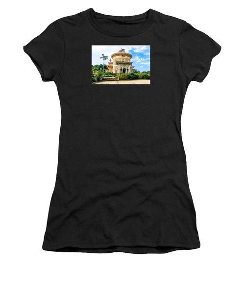 Women's T-Shirt (Junior Cut) featuring the photograph Monserrate Palace by Marion McCristall