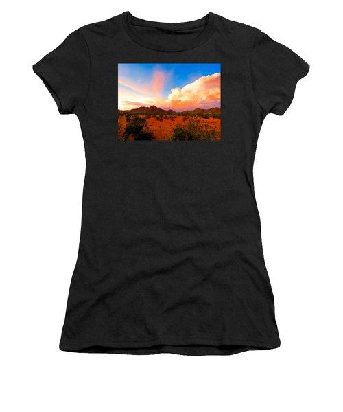 Monsoon Storm Sunset Women's T-Shirt (Athletic Fit)