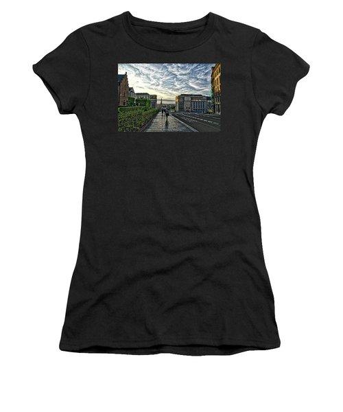 Mont Des Arts Hdr Women's T-Shirt (Athletic Fit)