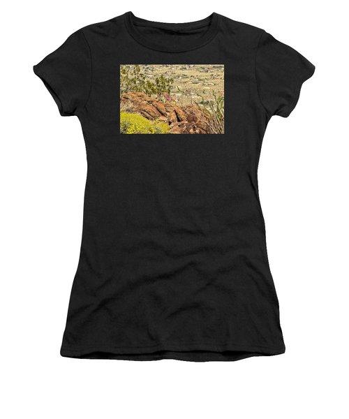 Montezuma Rd Cliff Side Flower Garden Women's T-Shirt (Athletic Fit)