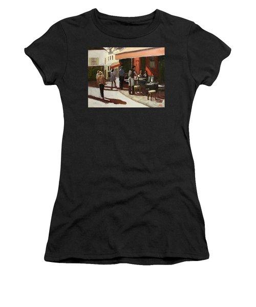 Montmarte Cafe Women's T-Shirt (Athletic Fit)