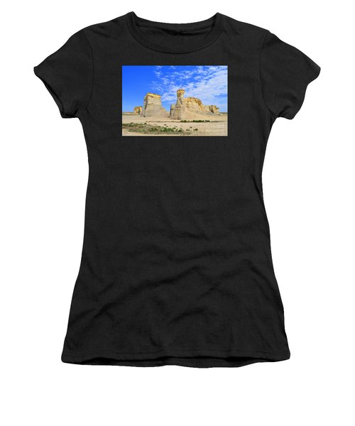 Monument Rocks In Kansas 2 Women's T-Shirt (Athletic Fit)