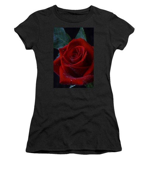 Moody Red Rose Women's T-Shirt