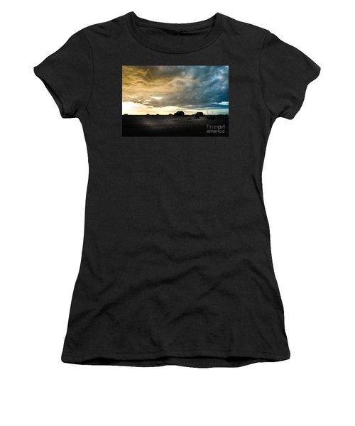 Moody Sky, Dungeness Beach  Women's T-Shirt