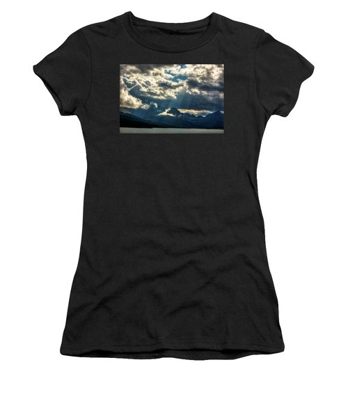 Moody Sunrays Over Glacier National Park Women's T-Shirt