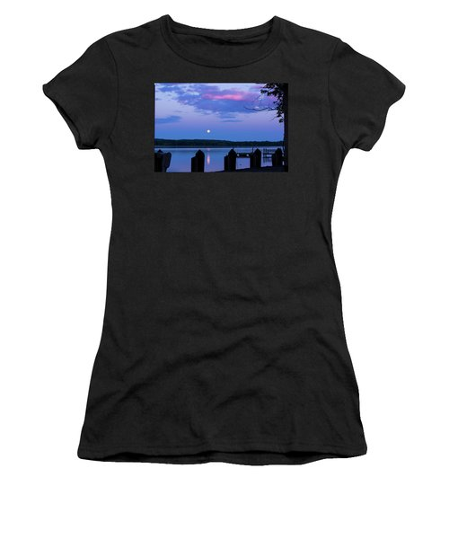 Moon And Pier Women's T-Shirt