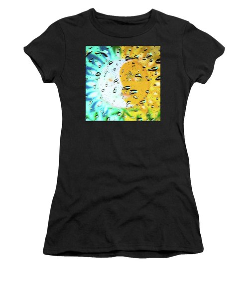 Moon And Sun Rainy Day Windowpane Women's T-Shirt