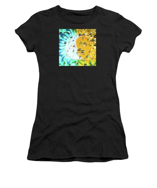 Moon And Sun Rainy Day Windowpane Women's T-Shirt