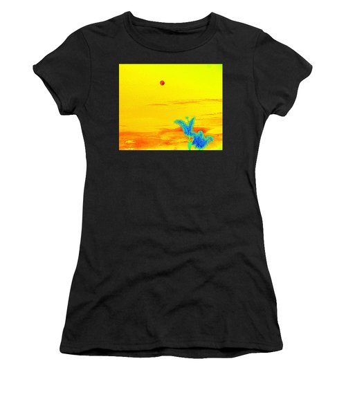 Moon And Two Palms Women's T-Shirt
