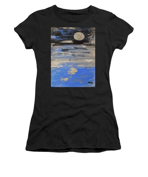 Moon In October Sky Women's T-Shirt (Athletic Fit)
