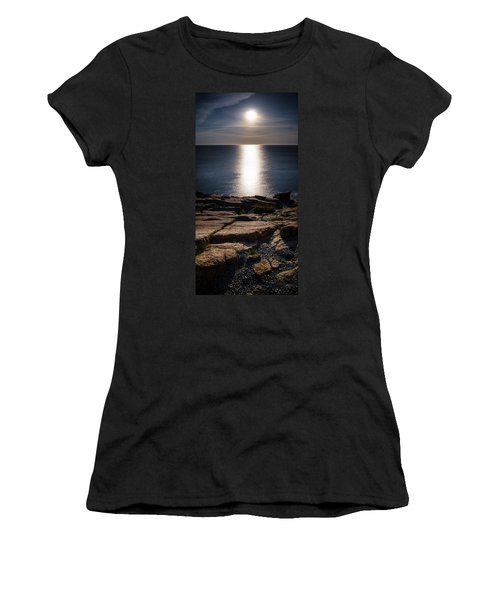 Moon Over Acadia Shores Women's T-Shirt