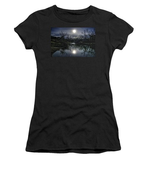 Moon Over Sand Creek Women's T-Shirt (Athletic Fit)