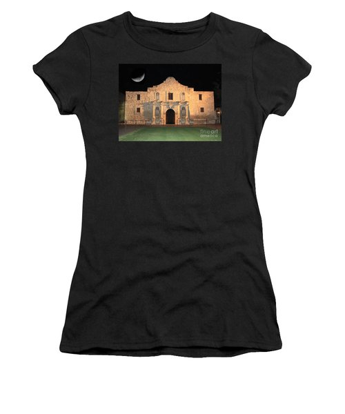 Moon Over The Alamo Women's T-Shirt (Athletic Fit)