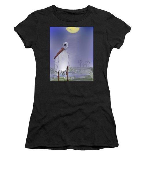 Moon Rise Becomes A Stork Women's T-Shirt