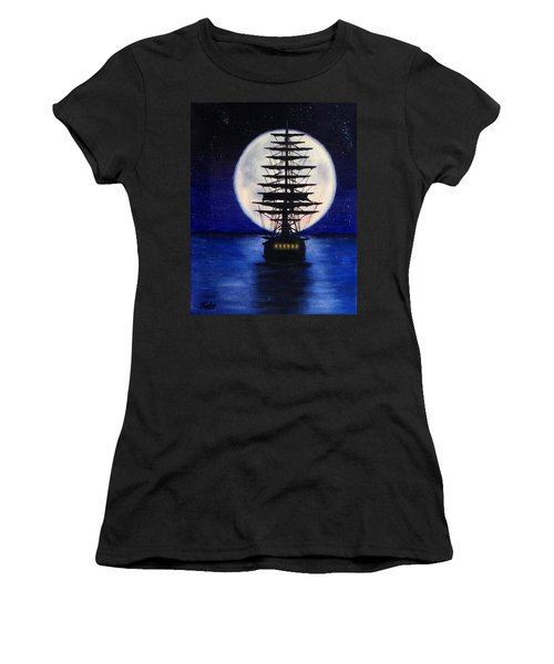 Moon Voyage Women's T-Shirt (Athletic Fit)