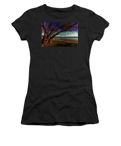 Moon Vs Aurora Women's T-Shirt (Athletic Fit)