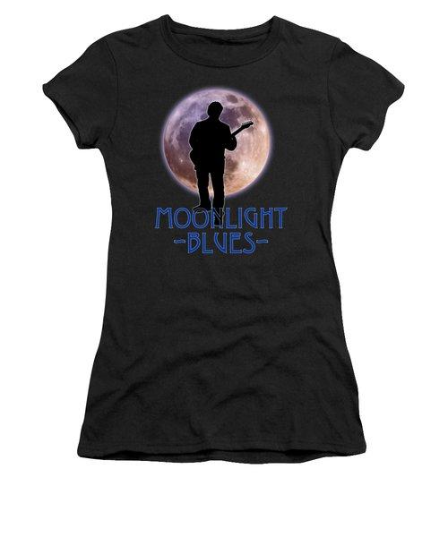 Moonlight Blues Shirt Women's T-Shirt (Junior Cut) by WB Johnston