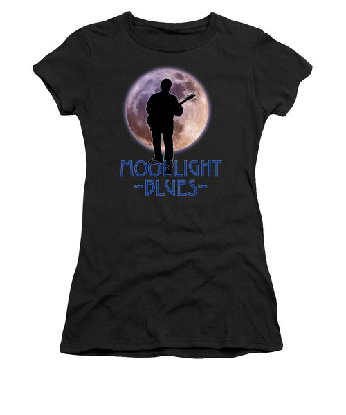 Moonlight Blues Shirt Women's T-Shirt (Athletic Fit)