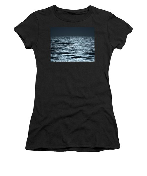 Moonlight On The Ocean Women's T-Shirt (Athletic Fit)