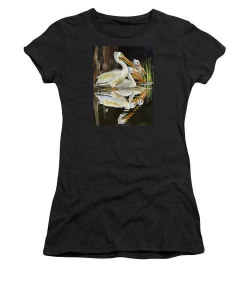 Moonlight Serenade Women's T-Shirt (Junior Cut) by Phyllis Beiser