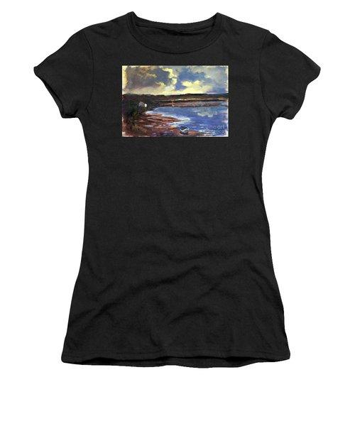 Moonlit Beach Women's T-Shirt (Athletic Fit)
