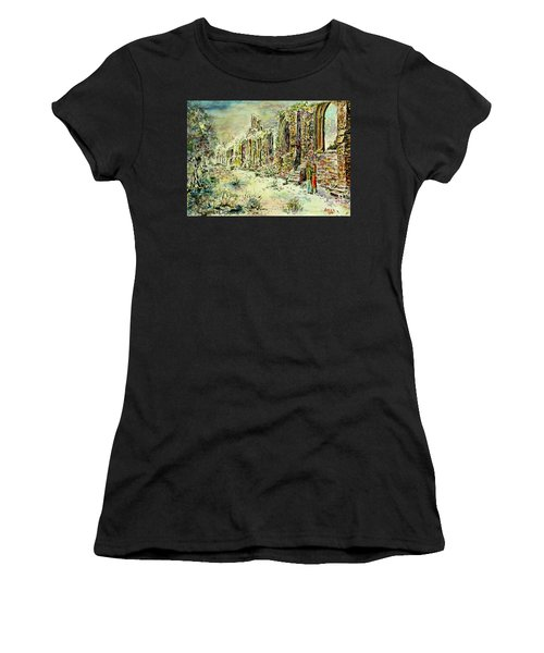 Moonlit Footsteps On Holy Ground Women's T-Shirt (Athletic Fit)