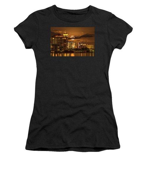 Moonrise Over Sarasota Women's T-Shirt (Athletic Fit)