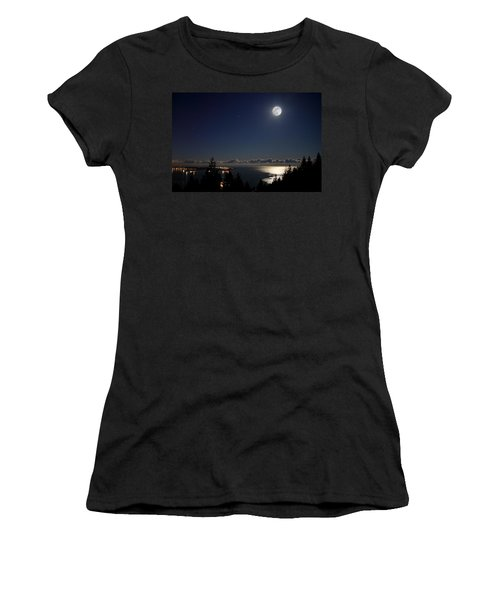 Moonshine Over English Bay Women's T-Shirt