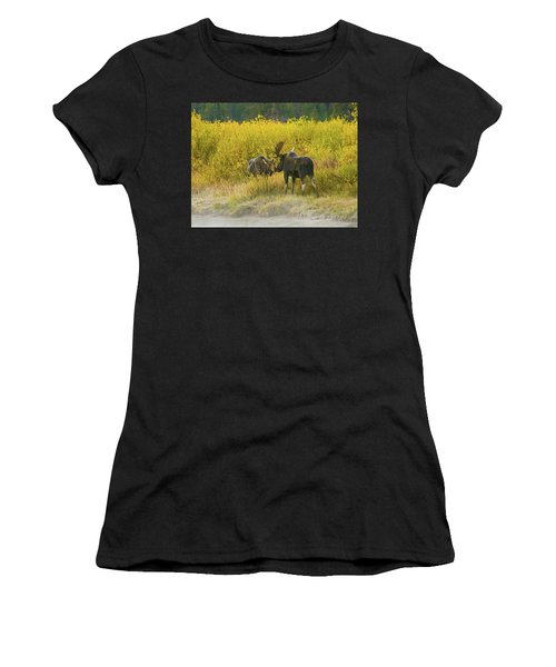 Moose Couple Women's T-Shirt