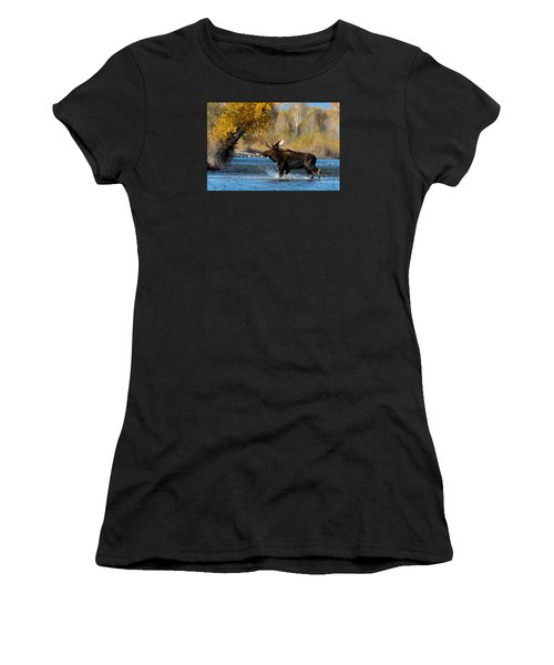 Moose Crossing Women's T-Shirt (Athletic Fit)