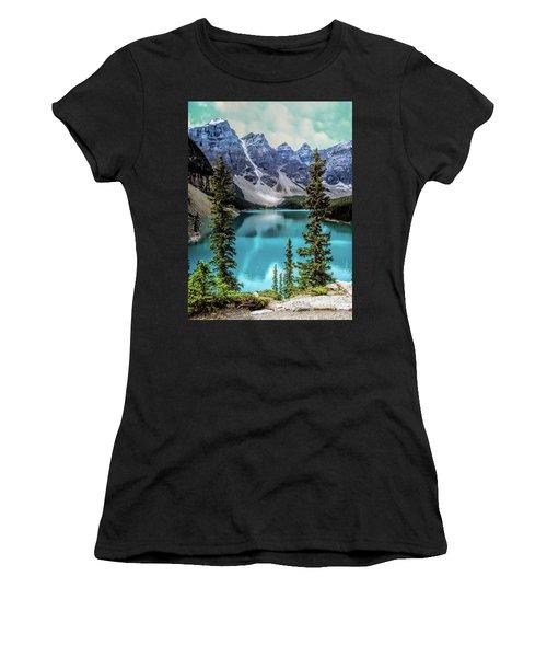 Moraine Lake Women's T-Shirt (Junior Cut) by Lynn Bolt