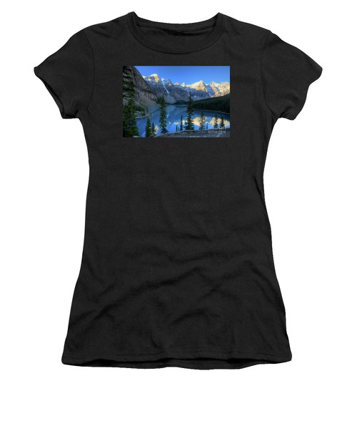Moraine Lake Sunrise Blue Skies Women's T-Shirt